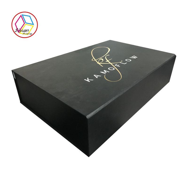 black color fancy paper gift box customized design box